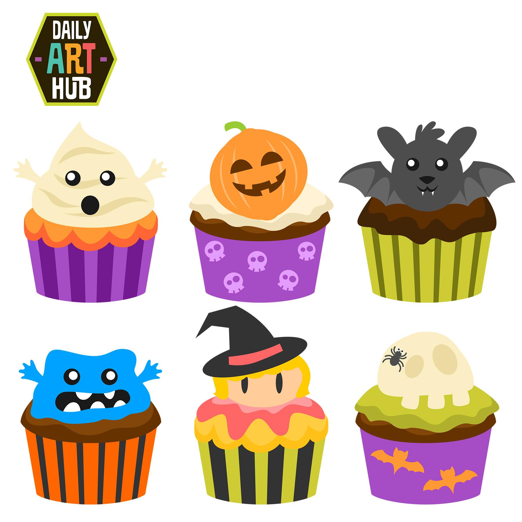 Halloween CupCakes Clip Art Set | Daily Art Hub