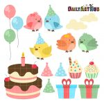 Cute Birthday Birds