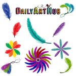 Colorful Feather Designs