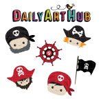 Cute Pirate Heads