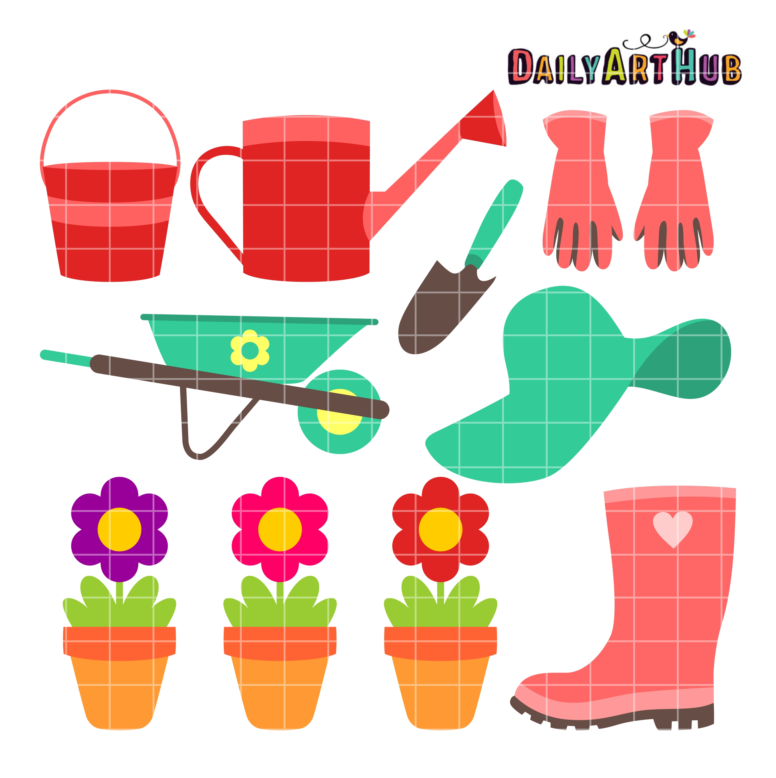 Commercial Use Clip Art Set for SVG Cuts, Scrapbooking, Embroidery ...