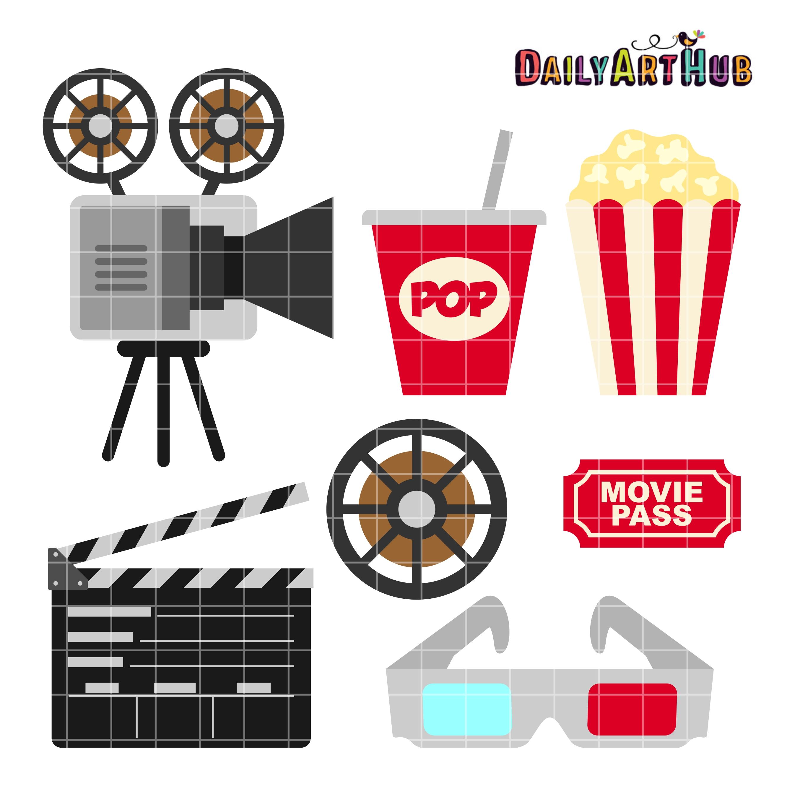 movie clip art set � daily art hub � free clip art everyday