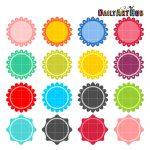 Colorful Circular Labels