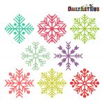 8 Colorful Snowflakes