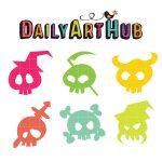 Colorful Cartoon Skulls