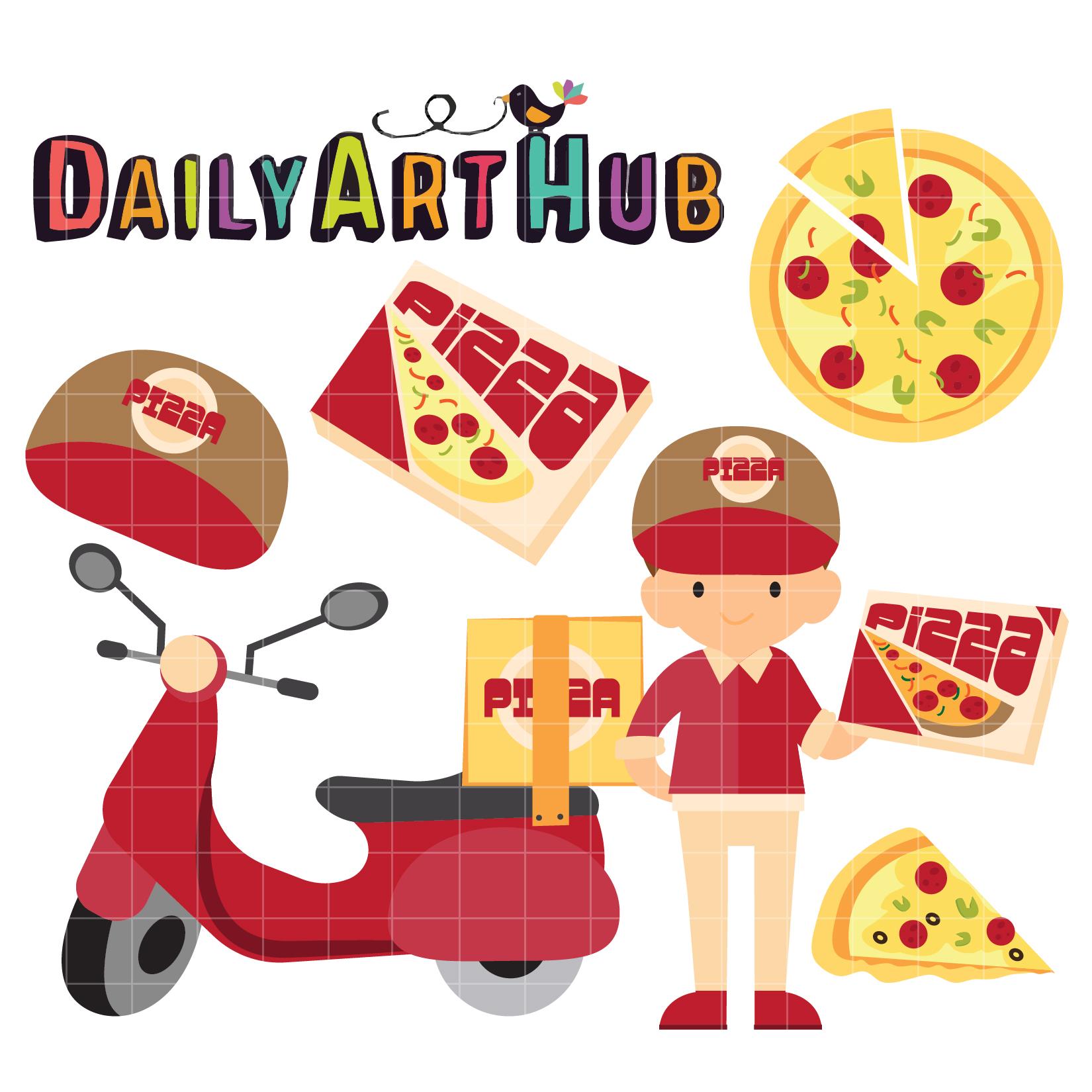 free clipart pizza man - photo #28