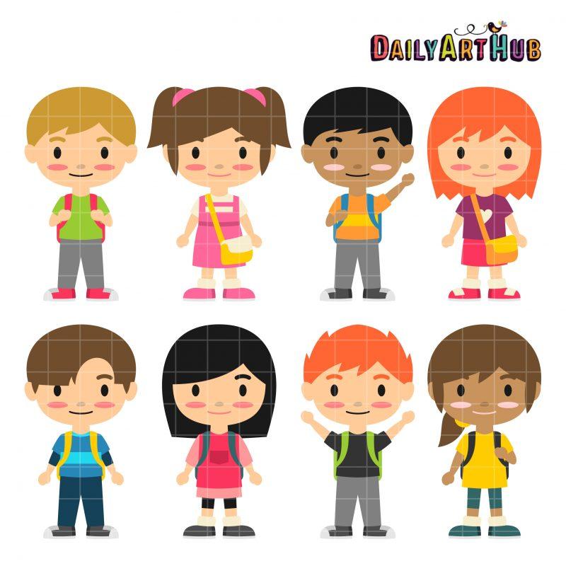 Cute School Kids