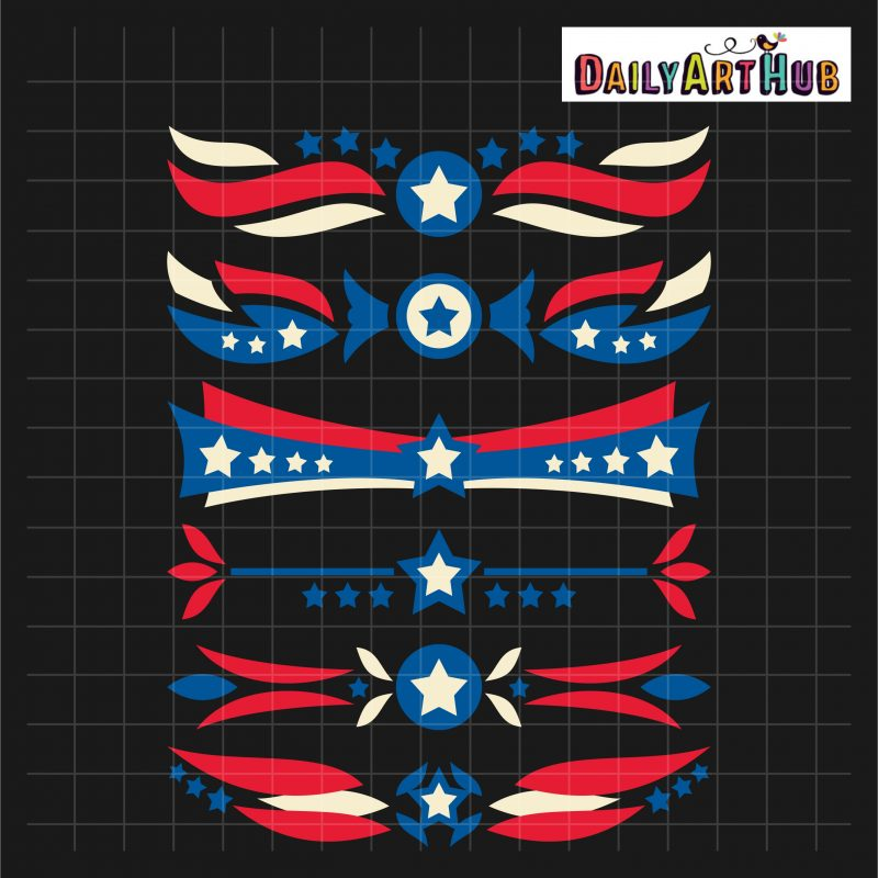 4th Of July Border Designs