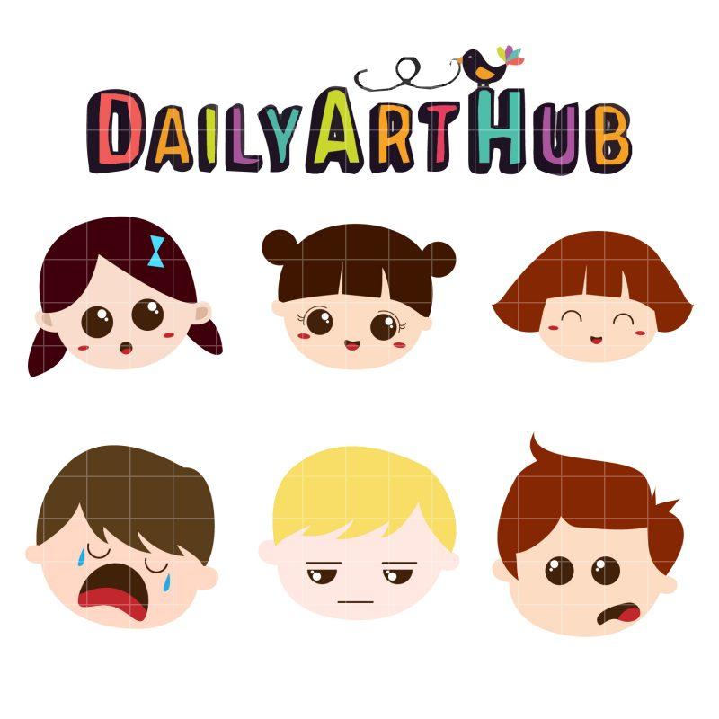 Cute Kids Expressions-q-01