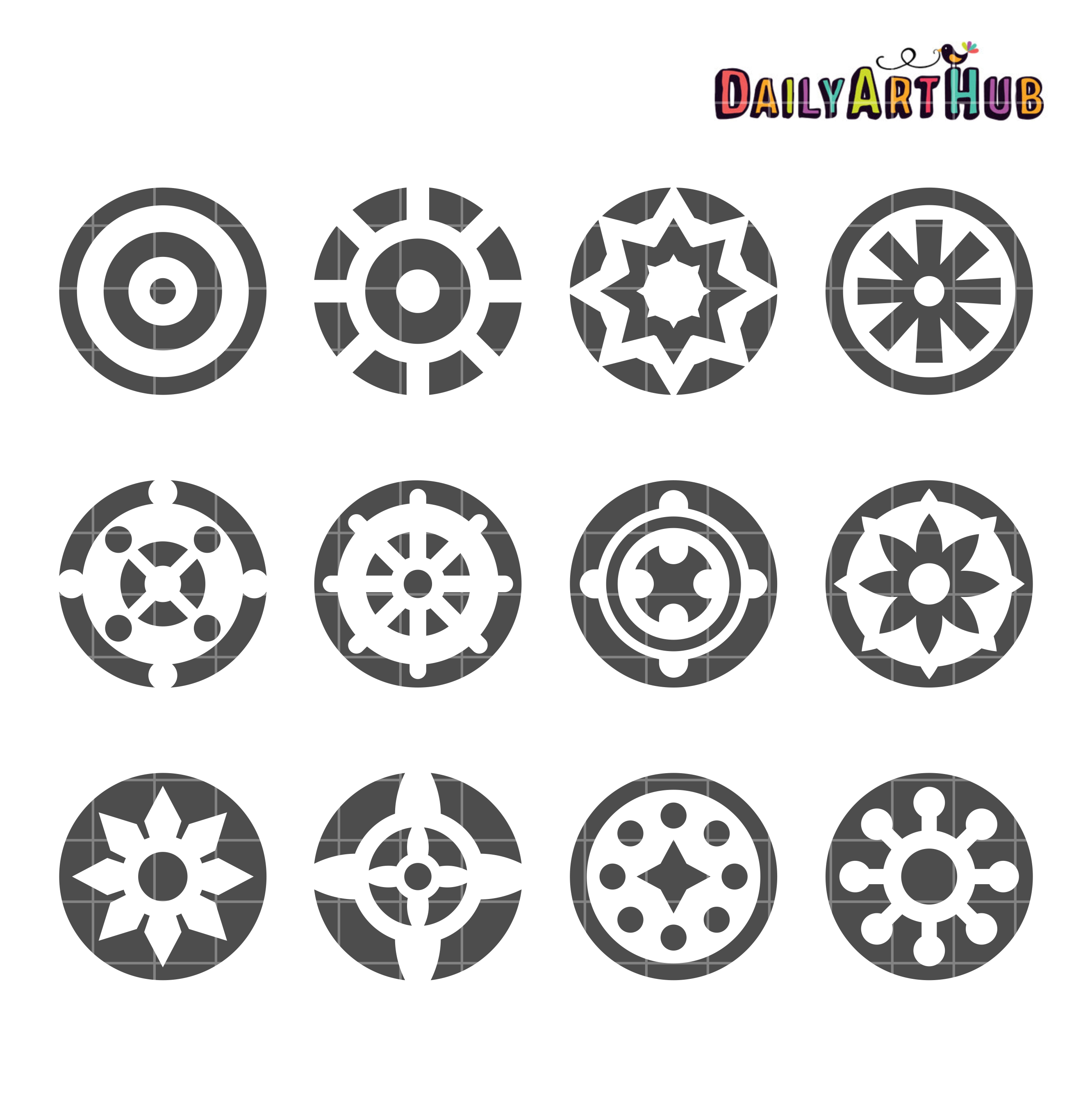 Decorative Circle Shapes Clip Art Set – Daily Art Hub ...